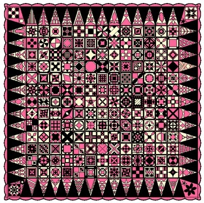 Dear Jane Quilts - Love this in the pink & black!  Just saw some pink & black fabrics at the quilt shop yesterday - awesome combination!