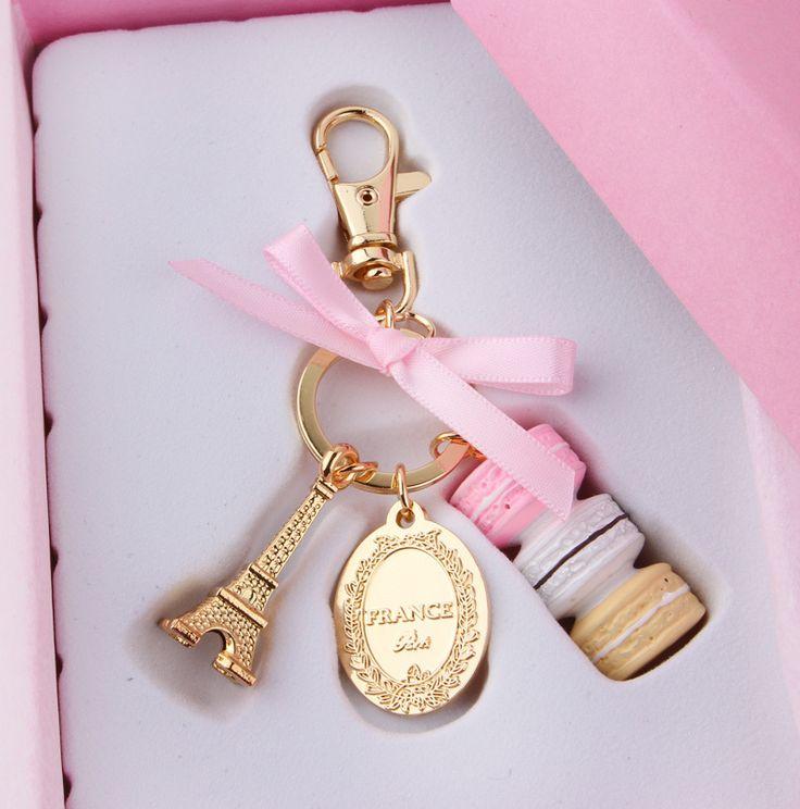 Macarons Effiel Tower keychain   http://www.aliexpress.com/item/Cake-macaron-fashion-keychain-France-LADUREE-Macarons-Effiel-Tower-Best-Gift-Christmas-gifts-wedding-birthday-gift/1603589598.html