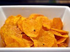 Édesburgonya chips recept