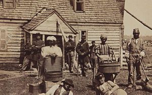 These fugitive slaves were fled to the Union Army.