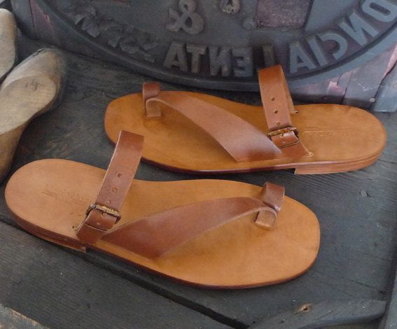 Handmade Leather Sandals Men's Genuine Leather and por MarioDoni