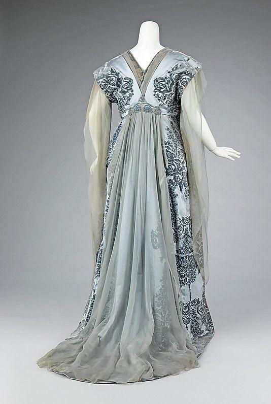 House of Worth, Pale Blue Tea Gown, Paris, c. 1910. (Back View)