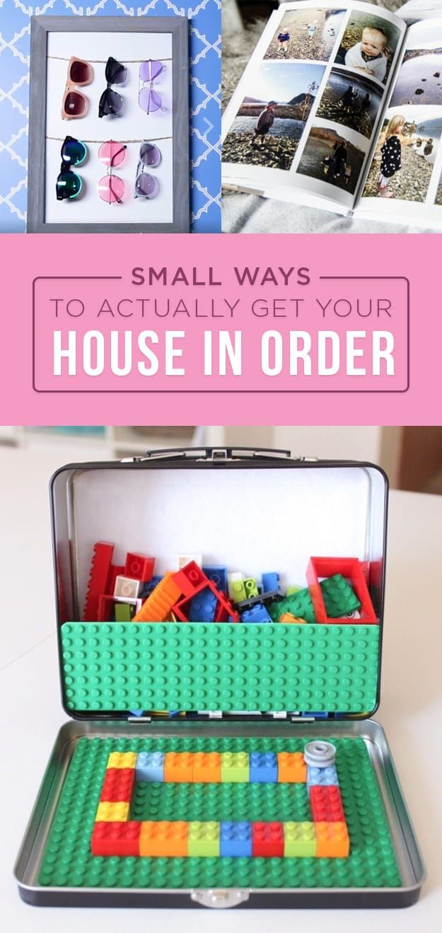 7 Small Ways To Actually Get Your Home In Order
