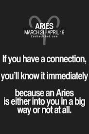 Aries:  Oh yes c, a definite connection - big time - for me Aries, anyway...