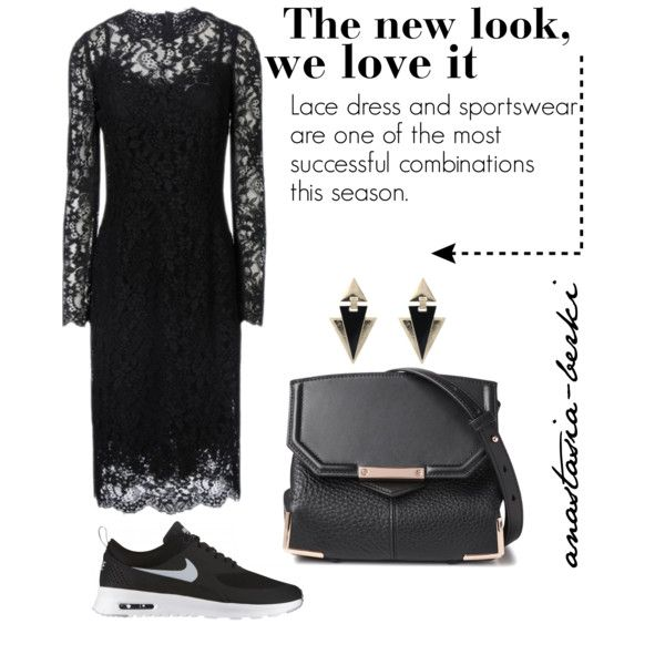 A fashion look from September 2014 featuring Dolce&Gabbana dresses, NIKE shoes and Alexander Wang shoulder bags. Browse and shop related looks.