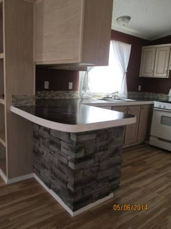 Mobile Home Remodeling Ideas Kitchen Back Splash And Island Base