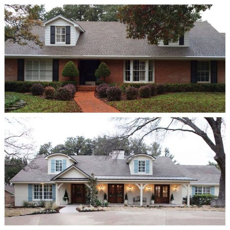 Home Exteriors Before And After Style Best Best 25 Home Exterior Makeover Ideas On Pinterest  Brick . 2017