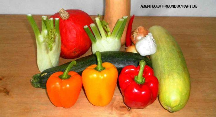 Zu einem Herbst-Menü gehört typisches Gemüse wie Kürbis dazu