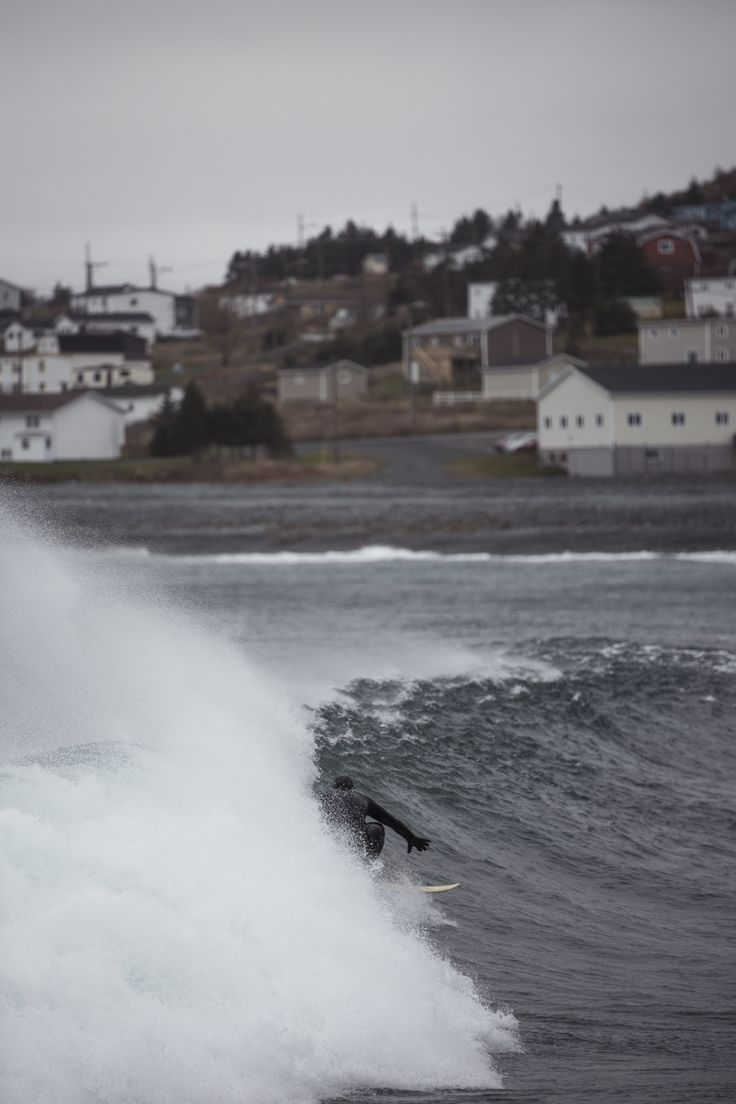 Cold Water surf on the East Coast of Canada.   #surfing #coldwatersurf #canada #swell #ocean