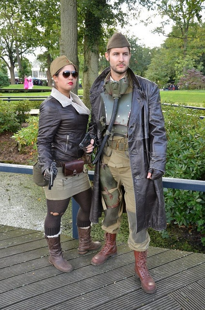 "The ""Aviator Look"" is another popular dieselpunk motif, a bit grubbier, but incorporating a few fantasy elements."