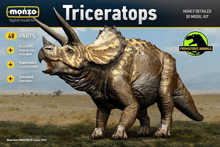 Triceratops has just arrived to #Monzo! Open the game, visit Monzo store and add this dinosaur to your collection! #Dinosaur #Triceratops