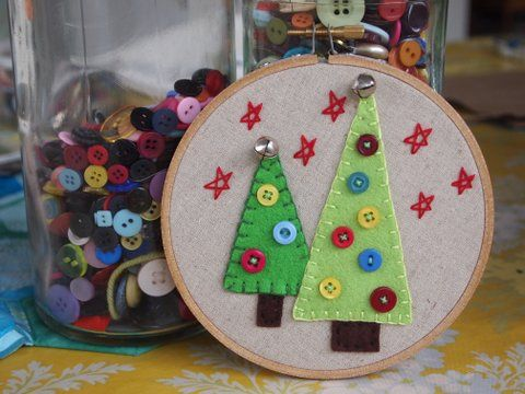 christmas decoration embroidery hoop