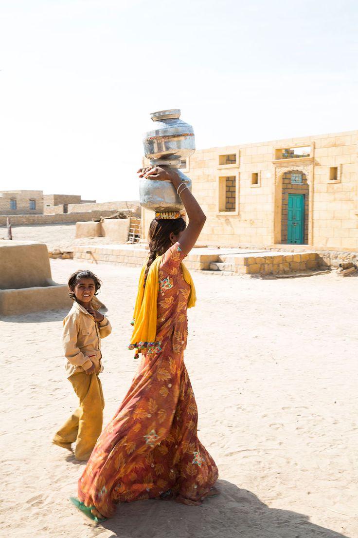 La vida en las calles de un pueblo en el desierto de Thar - Rajastán, un viaje en el tiempo