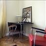 Skrivbord och stol från 30-talet, italiensk lampa.