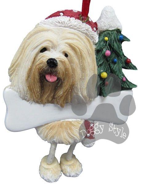 Dangling Leg Lhasa Apso Dog Christmas Ornament