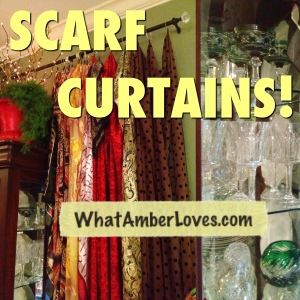 Scarf curtains + DIY curtain ring clips! Fun and whimsical! Gypsie style?
