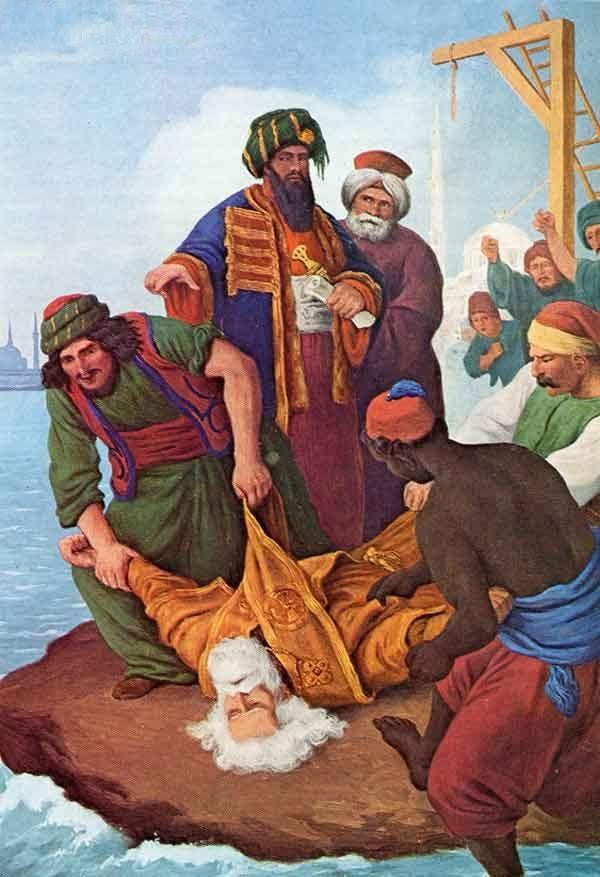 """Πέτερ φον Ες:   """"Απαγχονισμός του Πατριάρχη Γρηγορίου Ε'"""" - Peter von Hess: The Hanging of Patriarch Gregory V."""