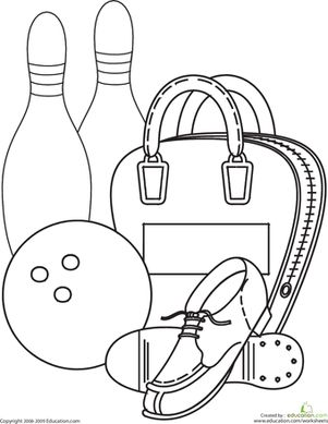 Bowling Coloring Page
