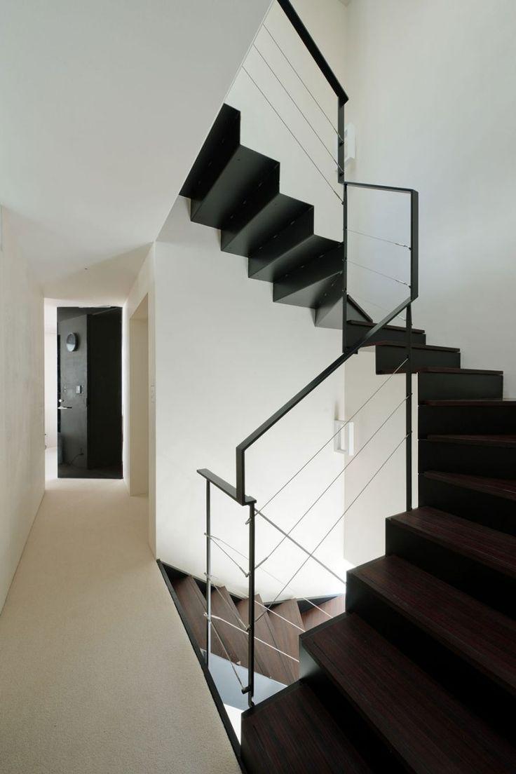 black stairs
