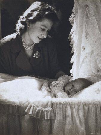 The Princess Elizabeth with Her First Child, Prince Charles.