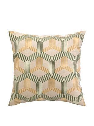 50% OFF Peking Handicraft Boomerang Pillow, Green/Sunshine