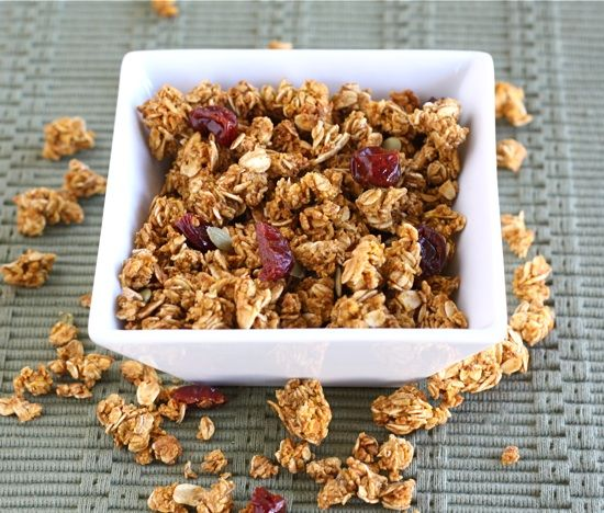Pumpkin Granola Recipe on twopeasandtheirpod.com