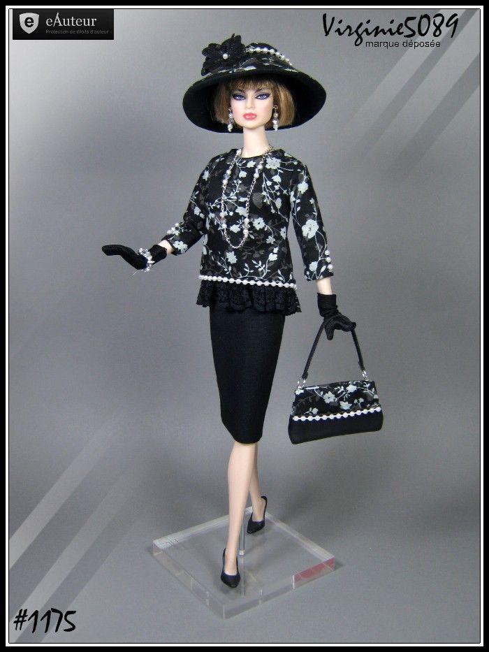 tenue outfit + accessoires pour barbie silkstone vintage fashion royalty#1175