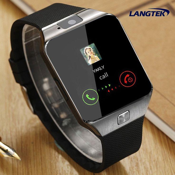 Langtek smart watch dz10 sync dukungan kartu sim bluetooth konektivitas notifier apple iphone android telepon pkgv18 gt08 q18 v8
