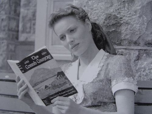 Lovely Maureen O'Hara reading The Corrib Country.