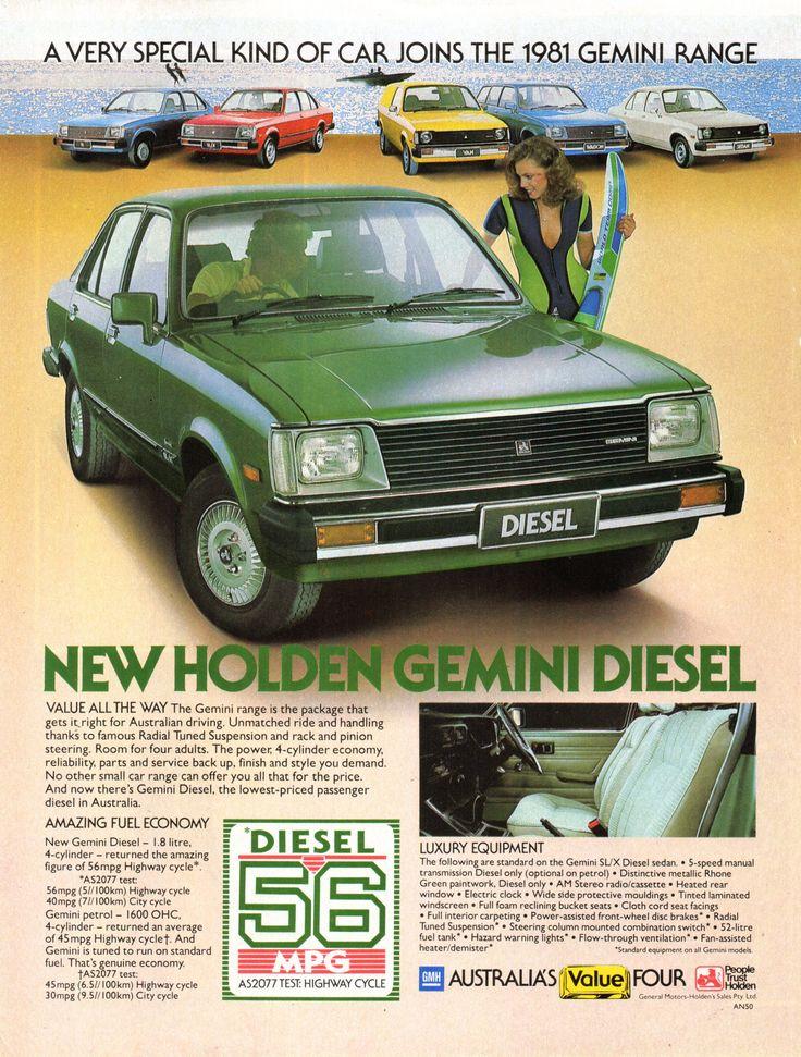 https://flic.kr/p/MyfN99 | 1981 TE Holden Gemini Diesel Aussie Original Magazine Advertisement
