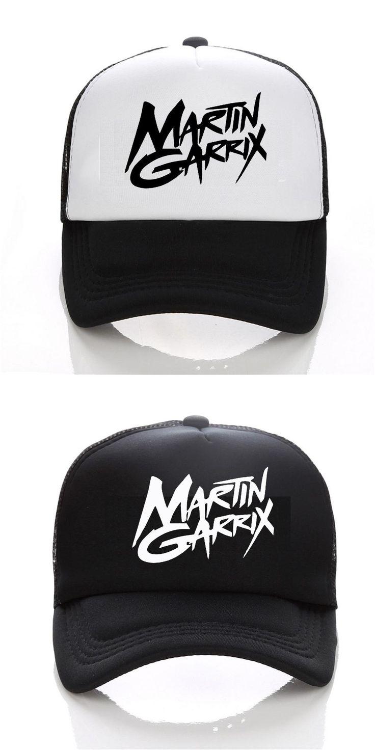 [Visit to Buy] 2017 Men baseball Cap Fashion Music DJ Martin Garrix logo cap Black White Hat Snapback Hat Women Cap #Advertisement