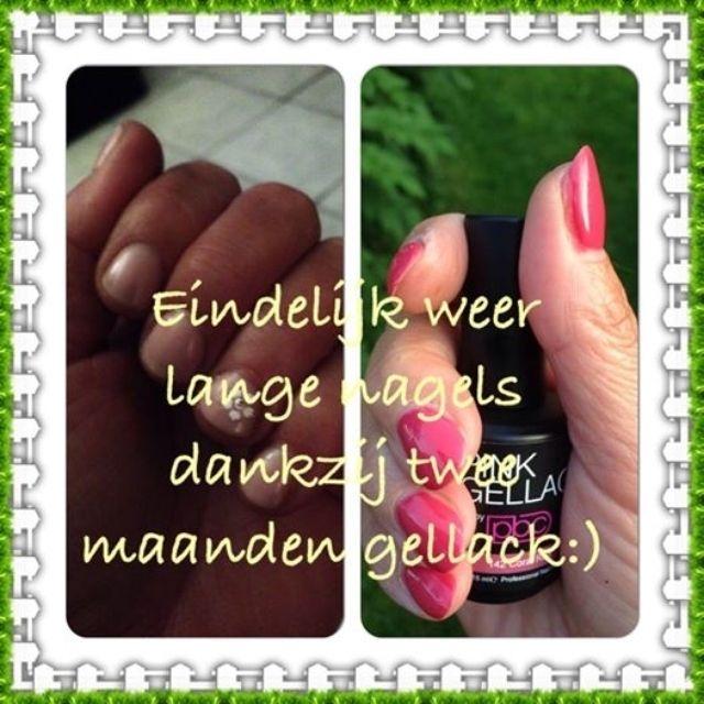Pink Beauty Club shared Corina de Jong's photo. Corina kan dankzij Pink Gellac weer haar nagels laten groeien. P...