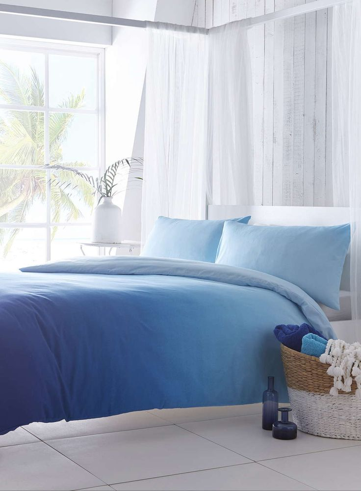 Santorini Blue Ombre Bedding Set