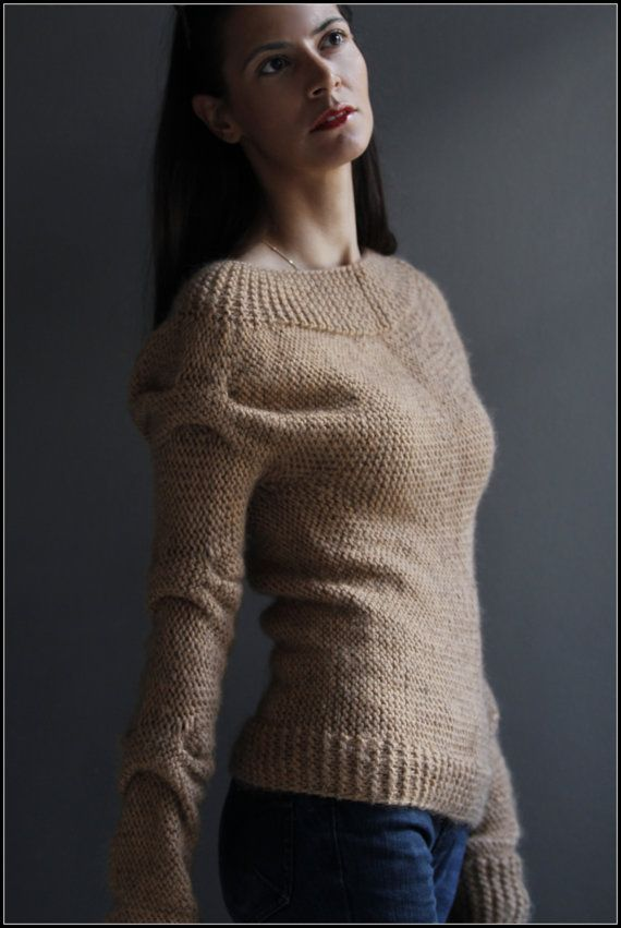 Trinity Sweater by NihanAltuntas on Etsy. Love the interesting pattern on the sleeves.
