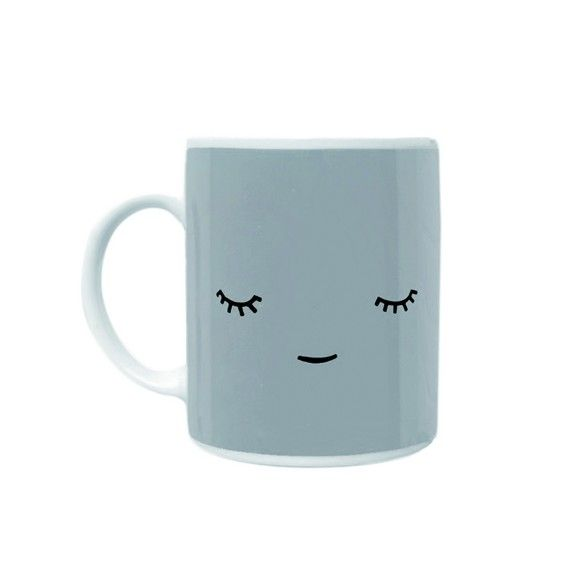 Grey Face Mug by Paparajote. Imagine contentedly sipping your tea from this gorgeous and super cool mug designed by Paparajote. This calm and cute little chappie, will bring a smile to your face every time you use him. A lovely, happy present for someone special. Comes boxed. £10.99