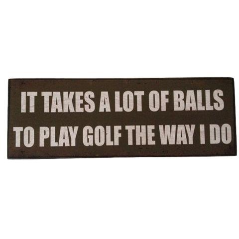 Golf Play Humorous Hanging Plaque wall Sign.  Available at Kids Mega Mart Australia www.kidsmegamart.com.au