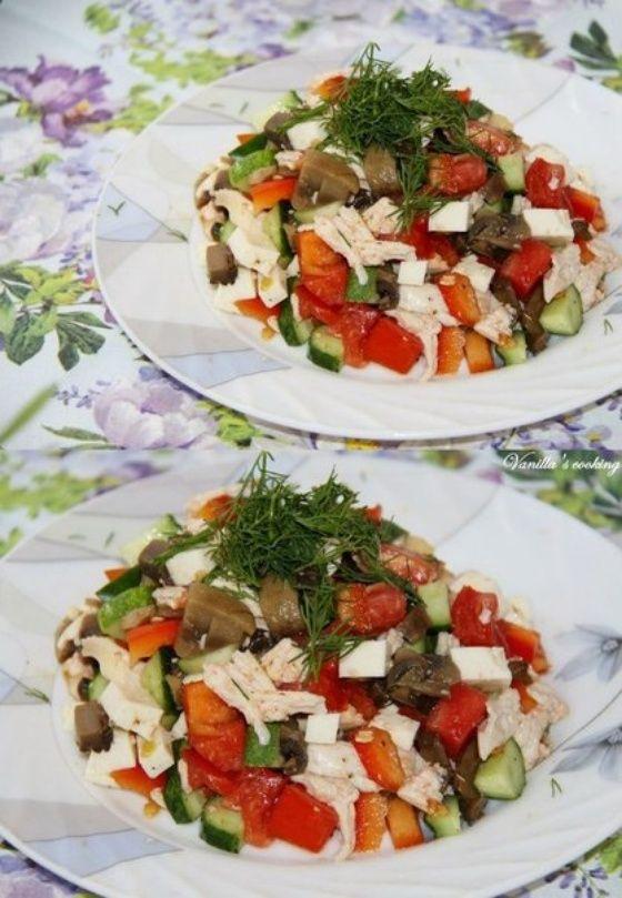 Легкий белковый салат - Кулинарный рецепт - Повар в доме