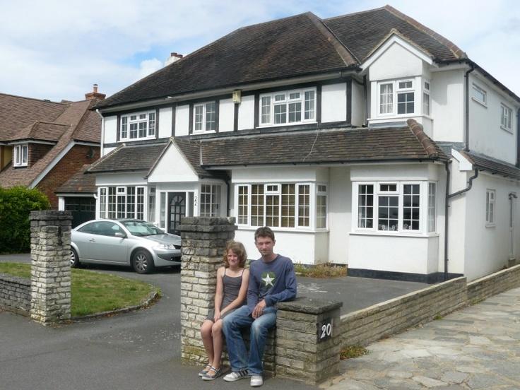 Liam & Iza at 22, Brabourne Rise Beckenham. Summer 2010