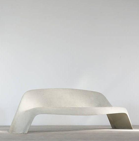 Walter Papst; #1000 Fiberglass Bench for Wilkhahn, c1960.