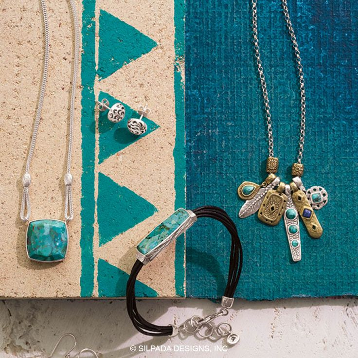 Turquoise blends beautiful with many materials.