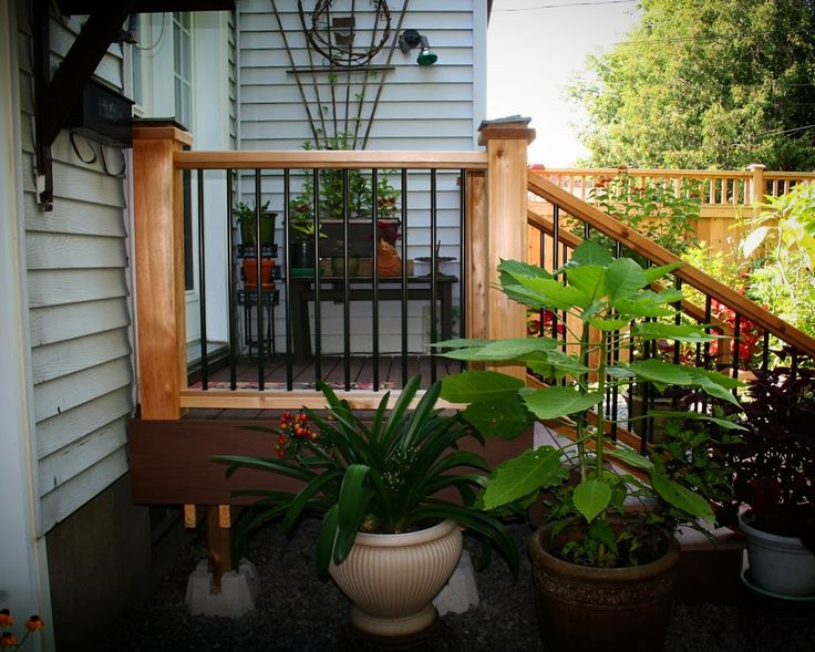 Wood Railing with Iron Pickets| Fence-All