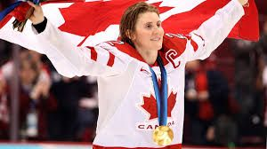 Hayley Wickenheiser played with a broken foot at the Sochi Olympics and still managed to win gold!