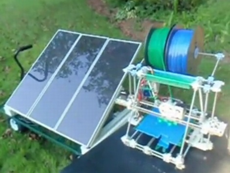 Solar-powered RepRap 3D printer - Own this I must!