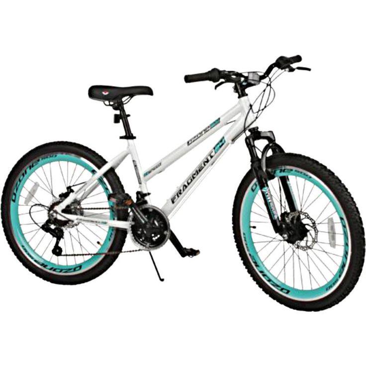 White Mountain Bike 24 Inch 21 Speed Lightweight Womens Teens Knobby Tires