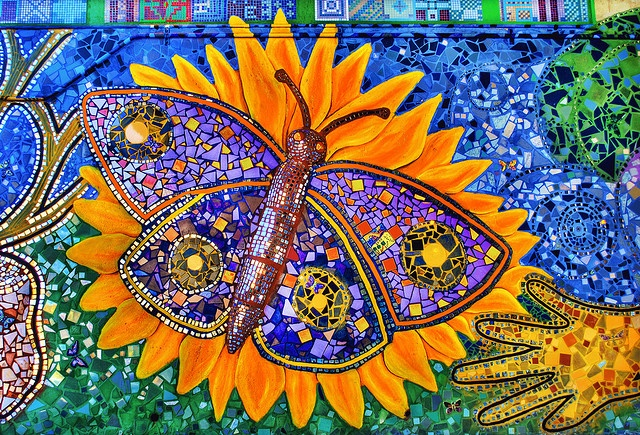 New Year's Butterfly mosaic