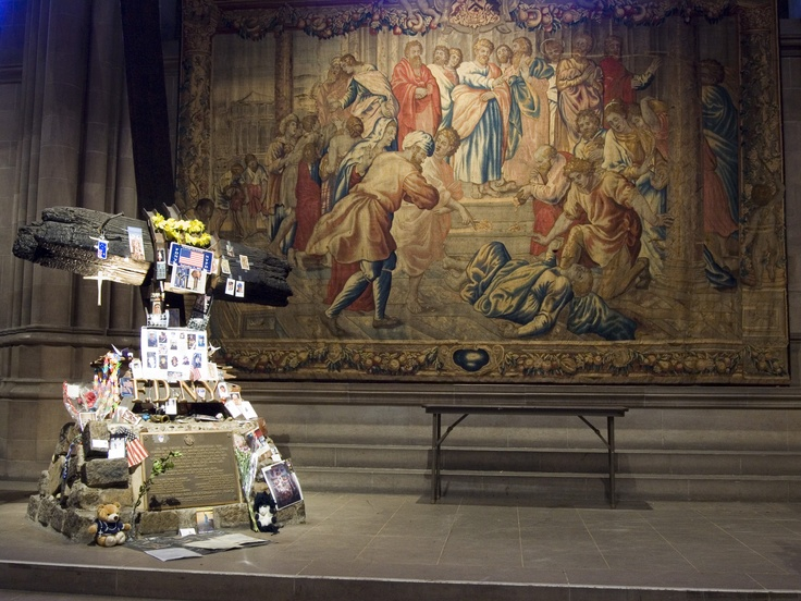 Image result for 9/11 fireman memorial at Cathedral of st john the divine