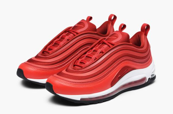 Top Quality Nike Air Max 97 Ultra 17 Se Gym Red Speed Red Black 917704 601 Men's Running Shoes Trainers 917704 601