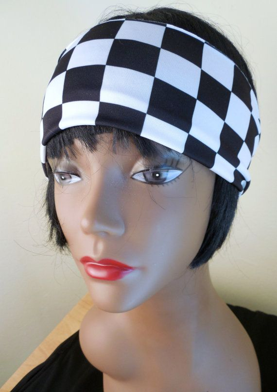 This would be so cute to wear to the races! Checkered flag Stretch Headband by SEWSoCal on Etsy, $4.50
