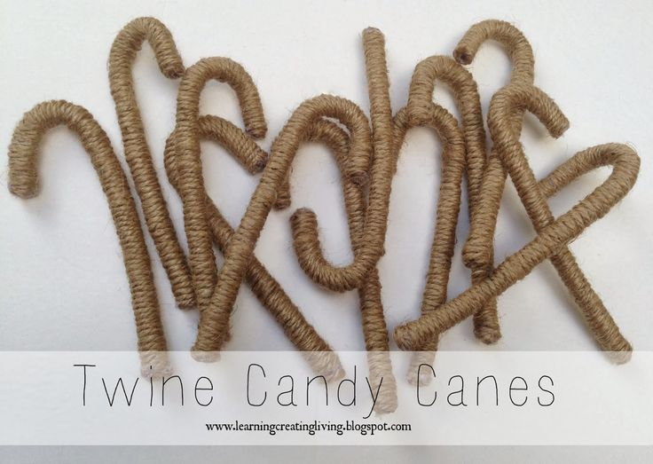 Learning Creating Living: Twine Candy Canes