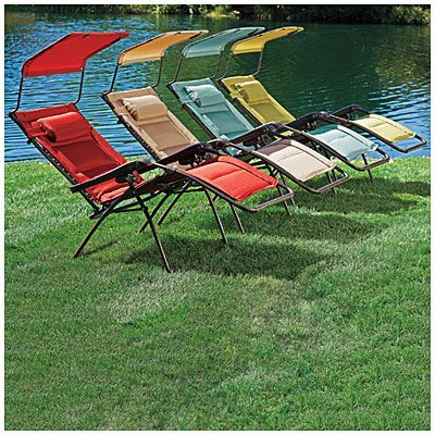 Wilson & Fisher® Oversized Padded Zero Gravity Chair with Canopy at Big Lots.